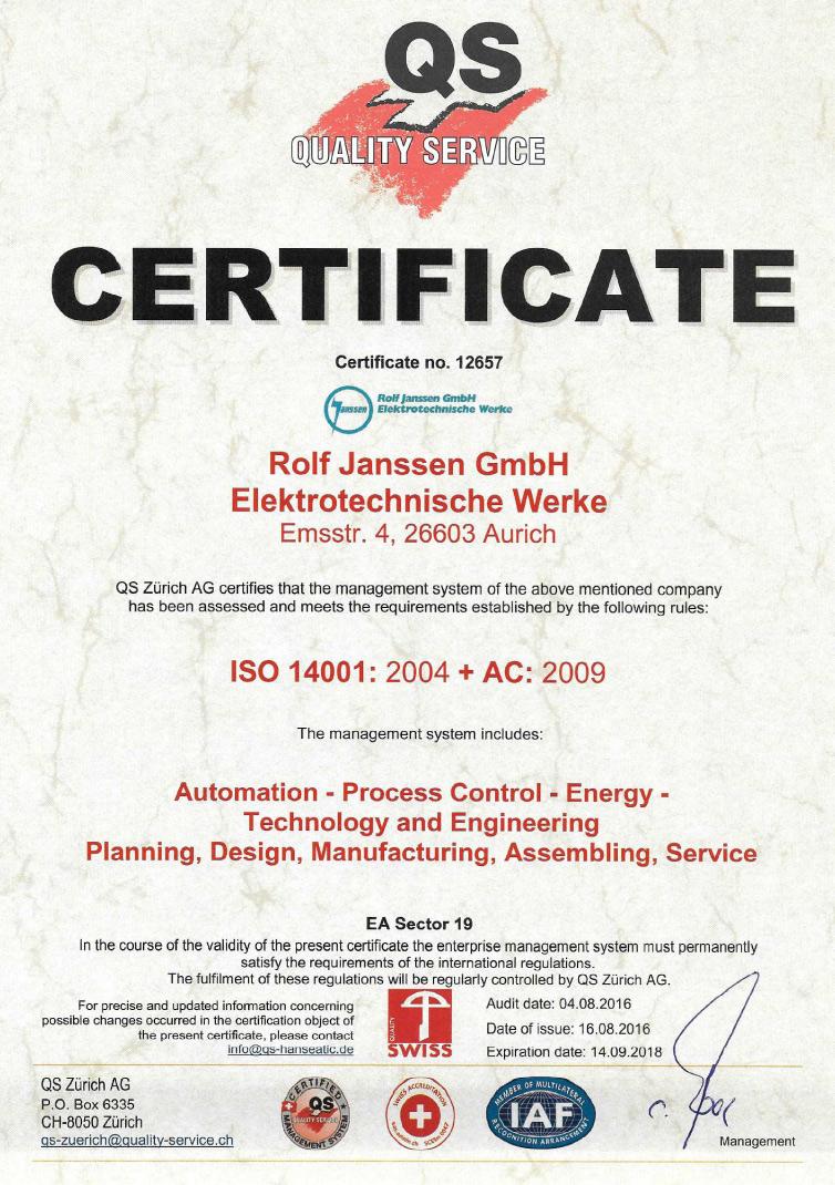 ISO 14001:2004 + AC:2009
